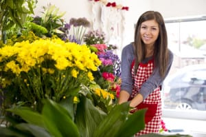 Photo of Intern in Florist Shop