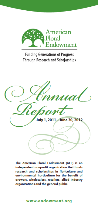 2011-2012 Annual Report Highlights What's Bloomed at the Endowment