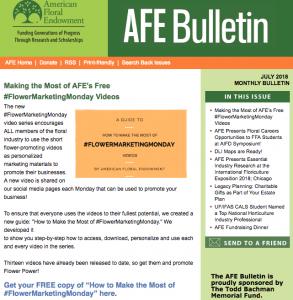 July 2018 AFE Bulletin