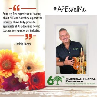 "@laceyaifd AAF, AIFD, CFD, PFCI from @floriologyinstitute / @bloomnet recounts his experience with AFE, ""From my first experience of hearing about AFE and how they support the industry, I have truly grown to appreciate all AFE does and how it touches every part of our industry. As an industry educator, I have had the opportunity to present the results of some of the wonderful studies and reports that have been funded by FMRF, experienced first-hand how floral design grants make education possible, seen how scholarships can make dreams come true and become an AFE donor to be part of giving back to this wonderful industry. The friendships that have blossomed from the events, dinners and working with the other AFE volunteers, are some of the most fulfilling experiences in my floral journey. AFE helps our industry continue to GROW."" You too can share your #AFEandMe story here https://buff.ly/33AEidt or tag us on social media."